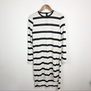 zara knit metallic high low tunic sweater dress